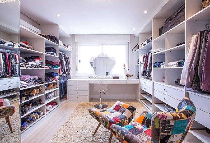 Дизайн гардеробной комнаты - Полезные дополнения
