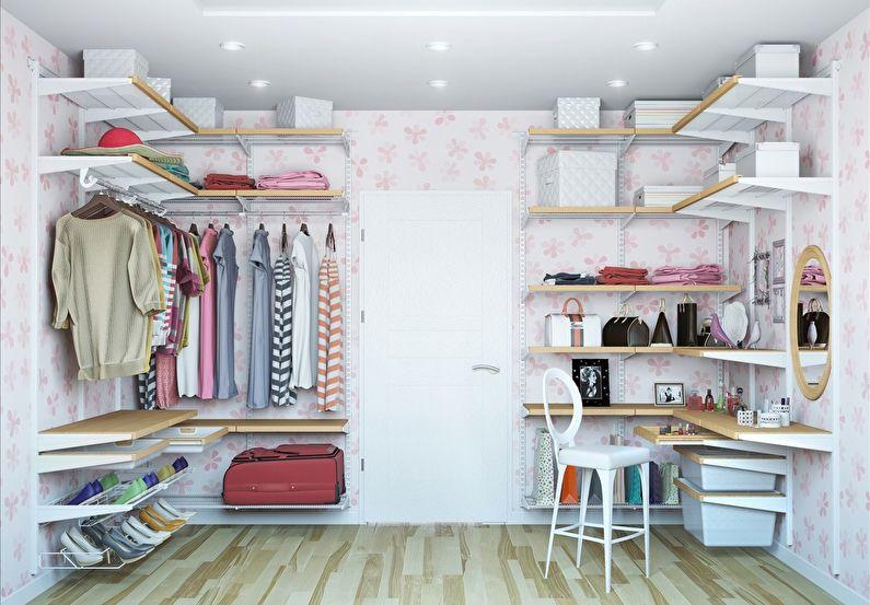 Дизайн гардеробной комнаты - Отделка потолка
