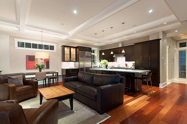 дизайн кухни гостиной 2018