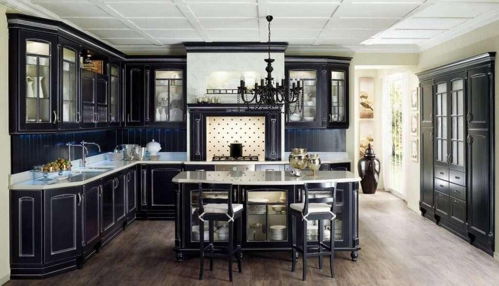 черная классическая кухня 2018