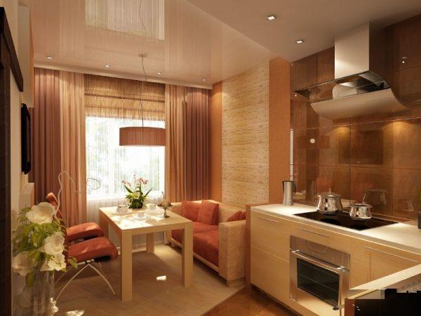 Кухня-гостиная 12 м