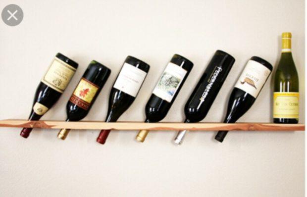 деревянная полка для вина