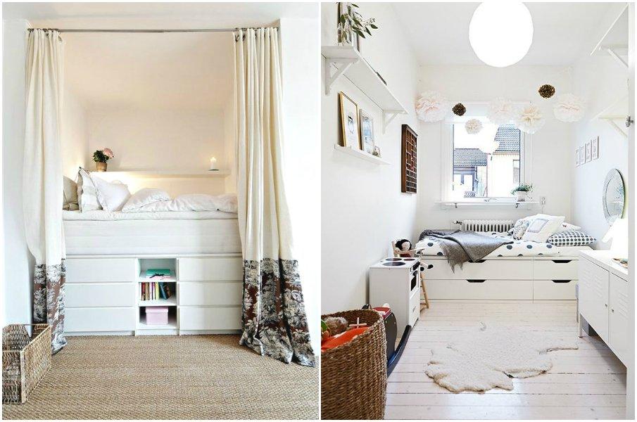 Кровать-подиум в интерьере