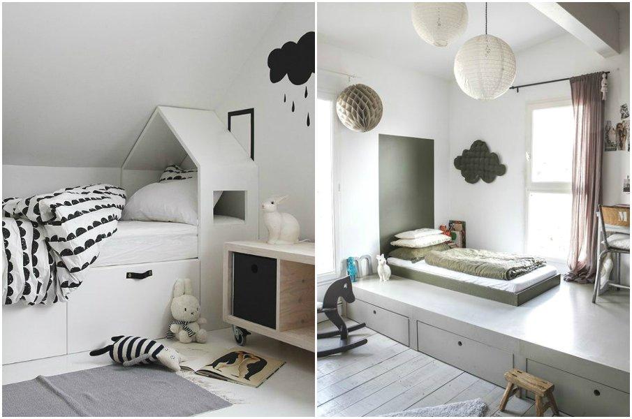 Кровать-подиум в детской комнате