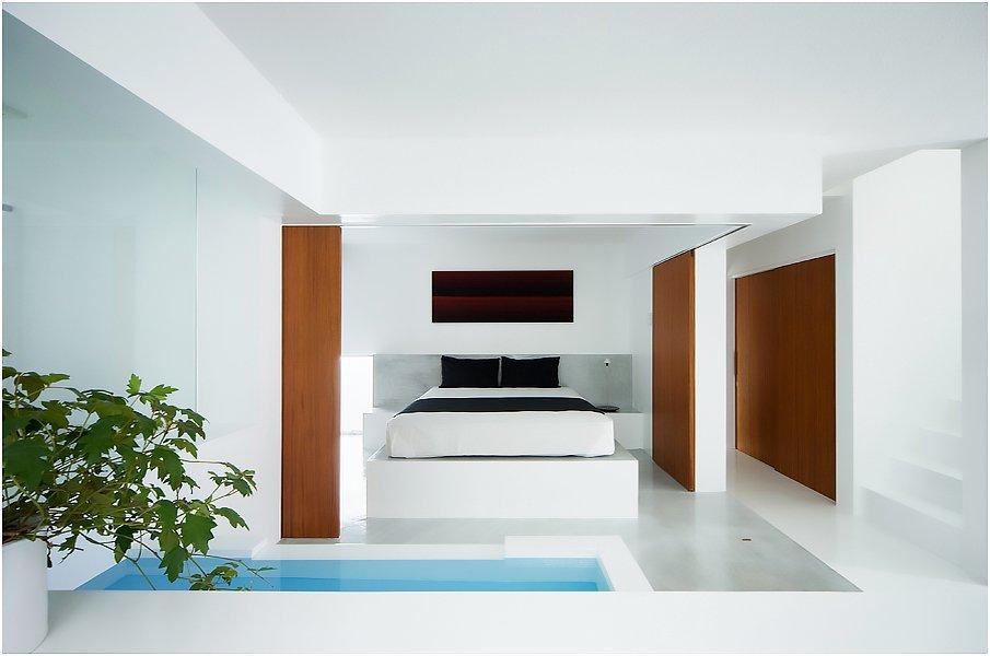 Минималистичная спальня в японском стиле