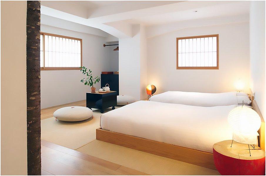 Традиционное оформление спальни в японском стиле