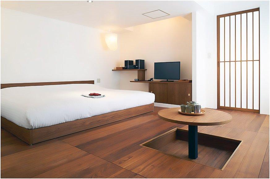 Гармоничный интерьер спальни в японском стиле
