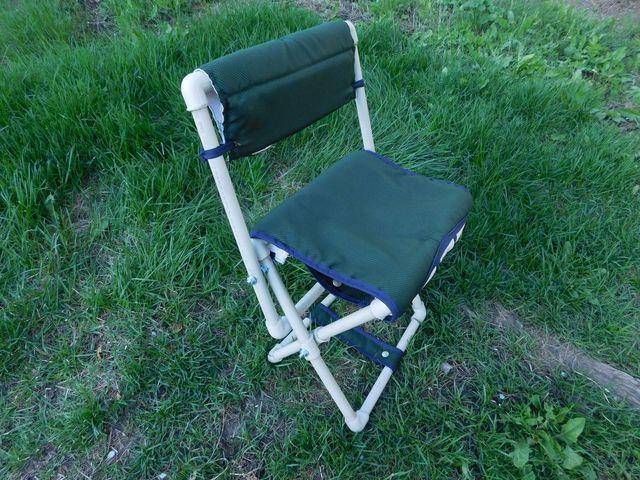 Раскладной садовый стульчик на фитинговых соединения