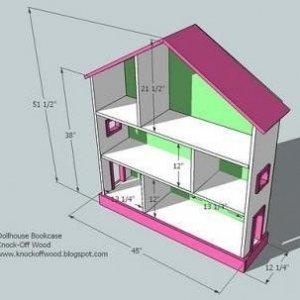 чертеж дом для кукол