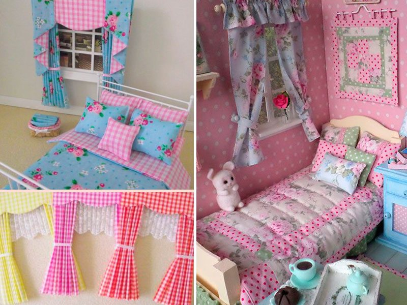 шторы для кукольного дома
