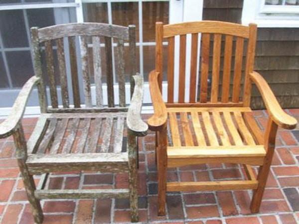 Результат реставрации старого деревянного стула