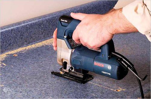 Как вырезать столешницу под мойку - вырезание отверстия в столешнице для установки мойки