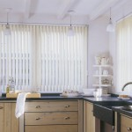 Белые кухонные жалюзи