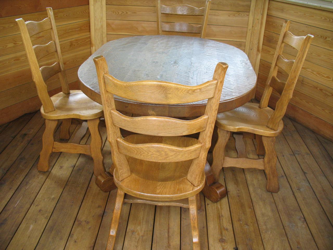 Классический стол в беседку
