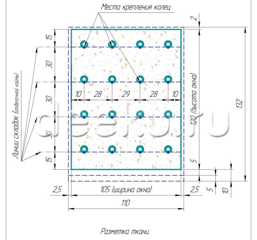 Схема сборки римских штор в домашних условия