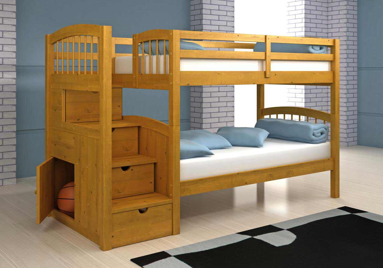 Кровать из двух ярусов