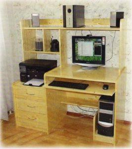 собрать компьютерный стол самому