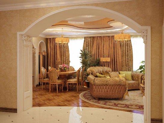 Дизайн арок из гипсокартона. Фото с сайта: globalsuntech.com