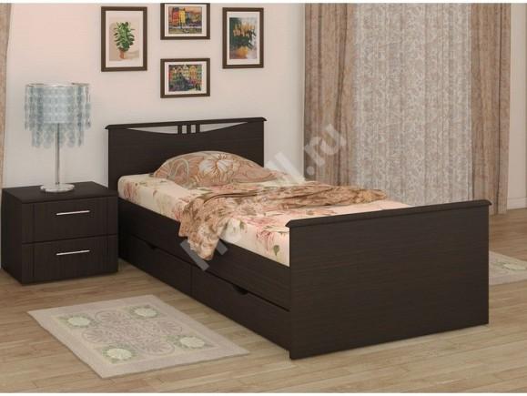 Кровать «Блюз» На 900 С Двумя Спинками Ящиками И Основанием