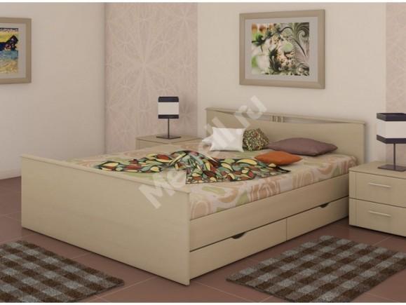 Кровать «Блюз» На 1600 С Двумя Спинками Ящиками И Основанием