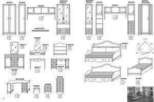 Схема фасадной части мебели