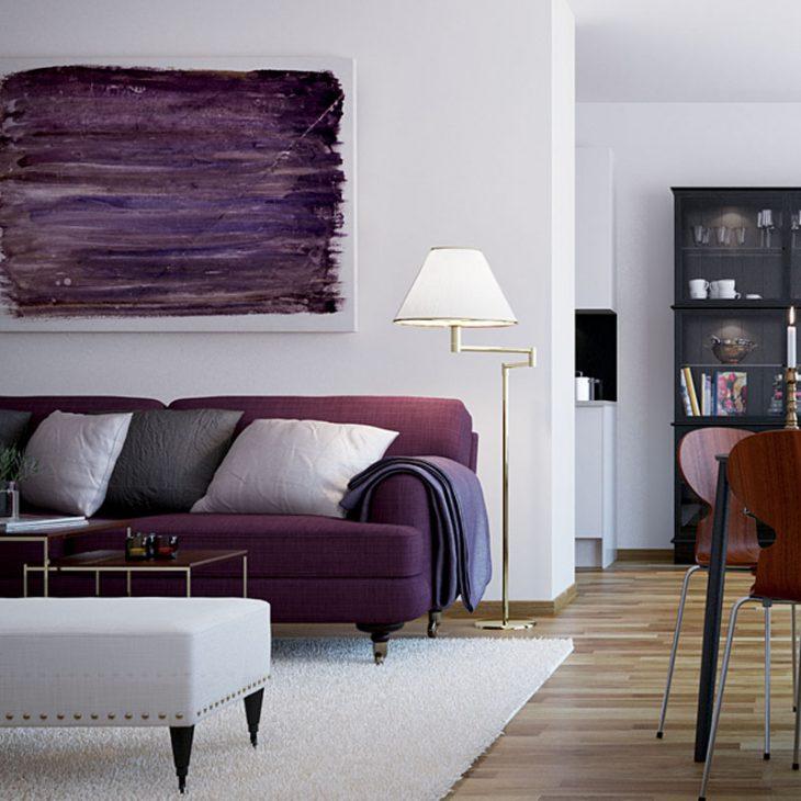 диван в интерьере гостиной фото