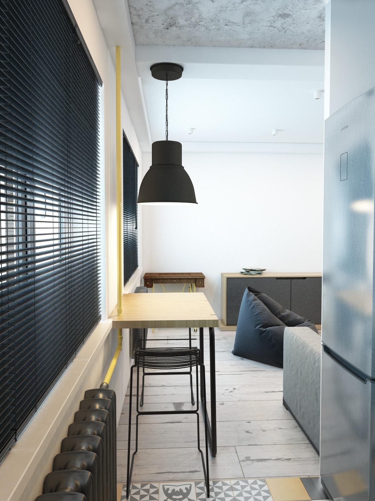 Откидной стол в стиле лофт