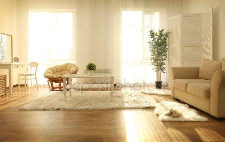 Красивая современная комната — стоковое фото