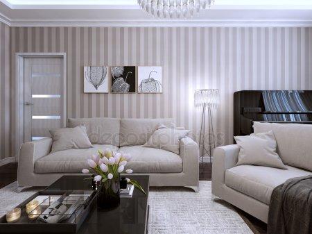 Гостиная в современном стиле — стоковое фото