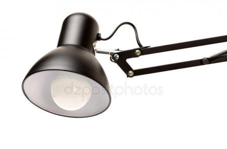 Черная таблица лампа для чтения — стоковое фото
