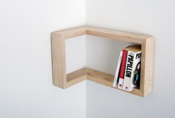 Идея для угловой книжной полки