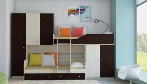 Кровать чердак с диваном - особенности, плюсы и минусы