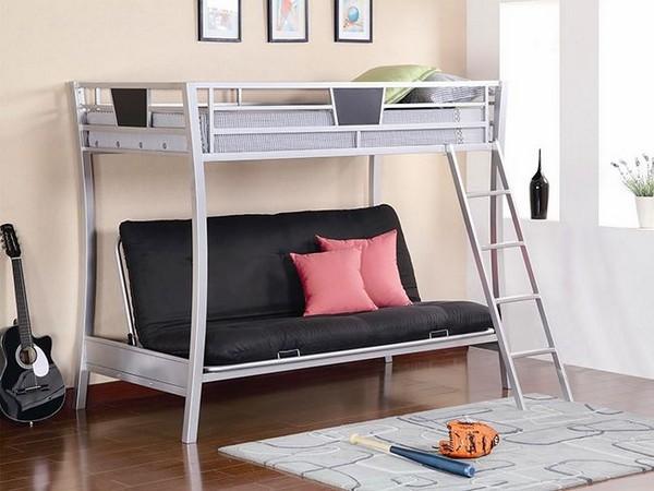 Двухъярусная кровать диван металлическая фото