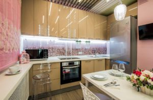 стандарты высоты фартука на кухне