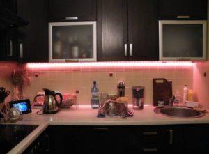 накладные светодиодные светильники для кухни под шкафы