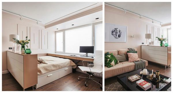 что между кроватью и диваном