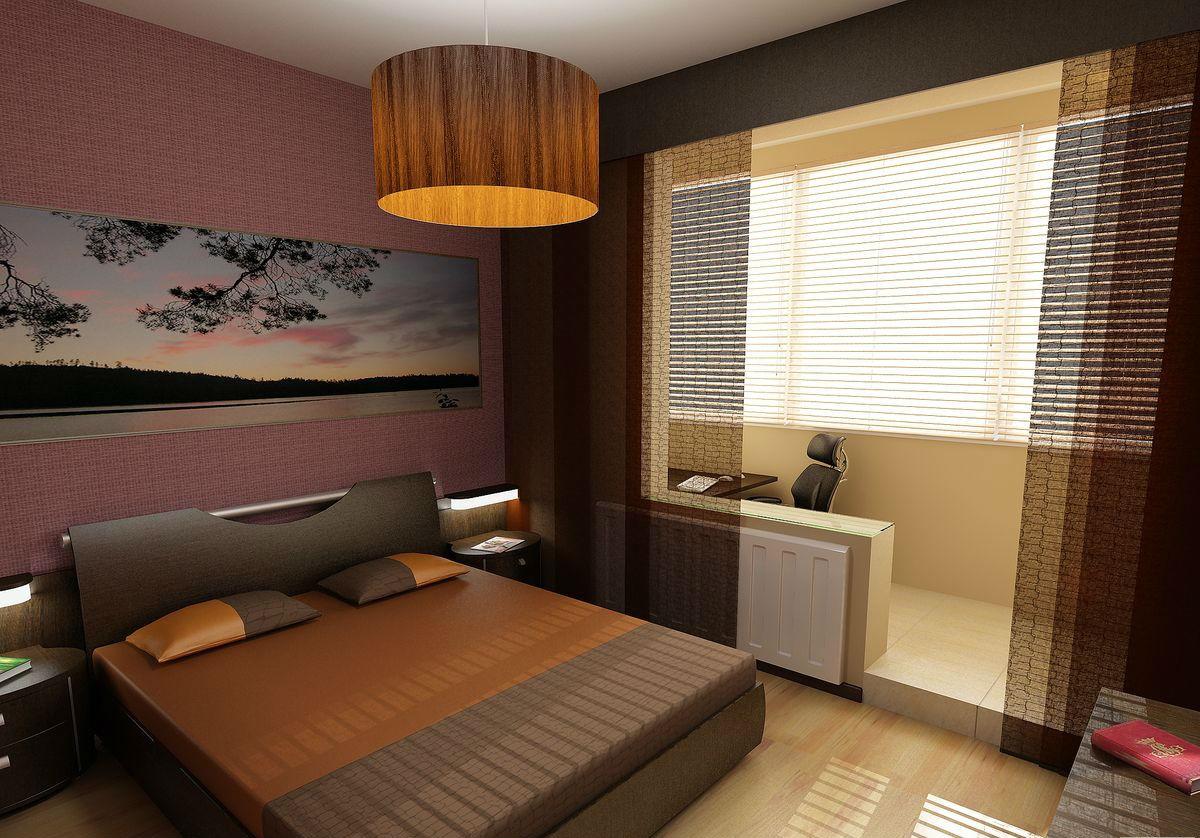 объединение спальни и лоджии