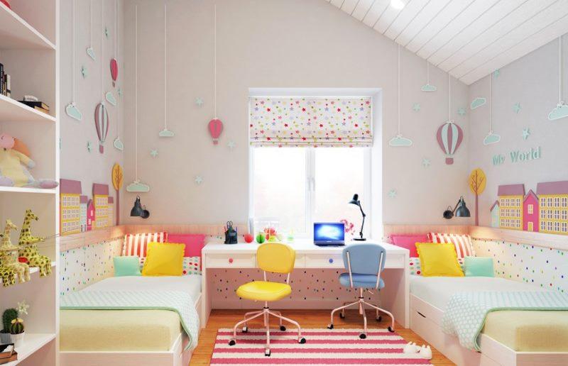 Детская комната в розовых оттенках