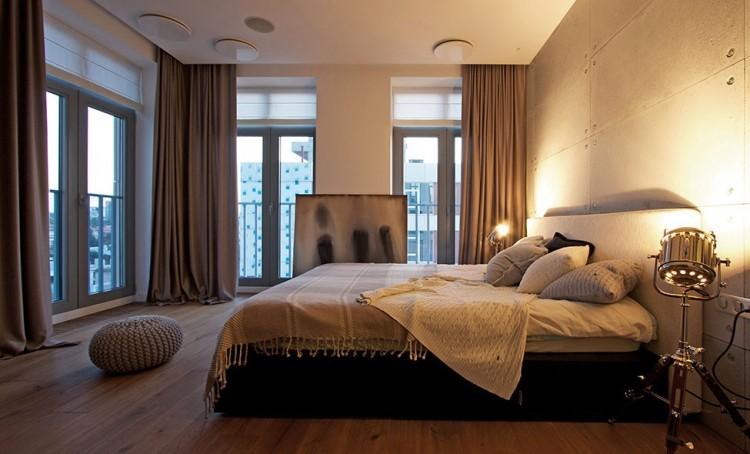 Спальня с мебелью в стиле хай-тек
