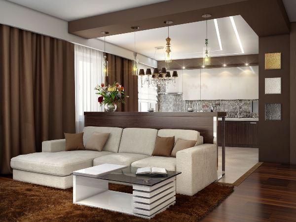 гостиная с барной стойкой дизайн фото