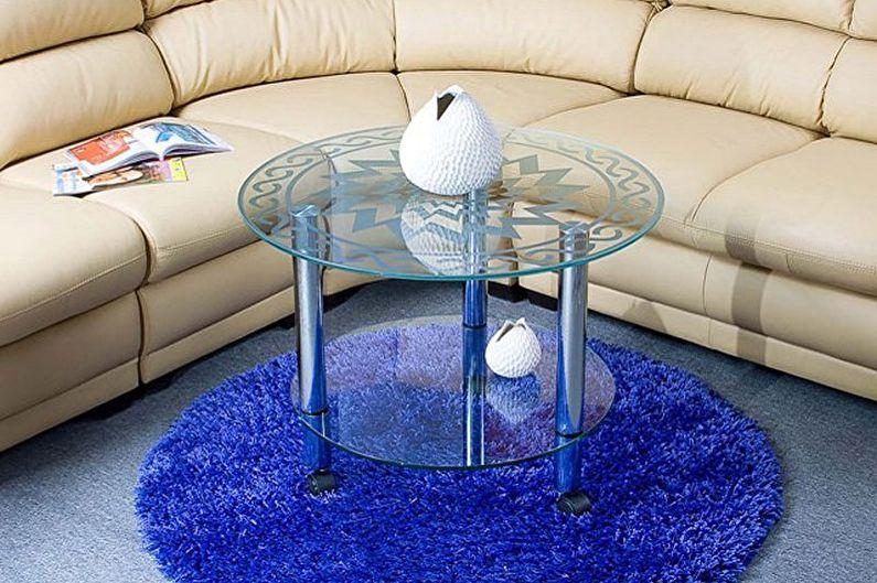 Дизайн стеклянных журнальных столиков