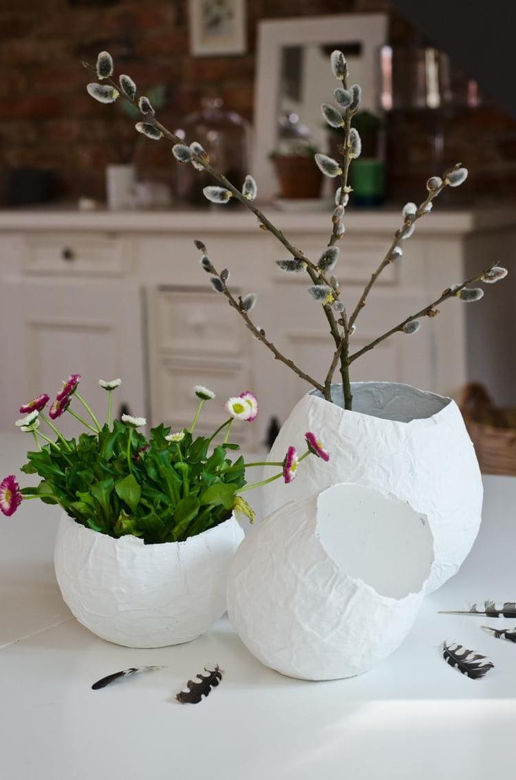 Сделать красивую вазу с использованием техники