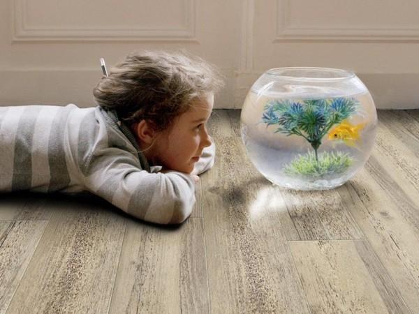 Аквариум в детской комнате