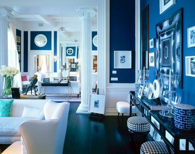 Синий цвет в интерьере фото - 35 интерьеров