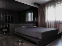 шторы для черной спальни фото