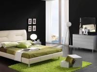шторы в черно белую спальню