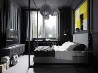 фото спальни в черно белых тонах