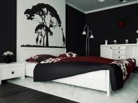 спальня в черно белом цвете