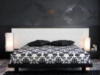 черно белый текстиль - покрывала, подушки