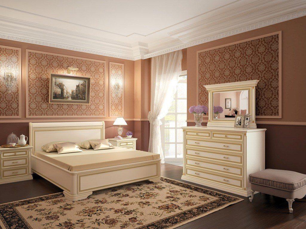 светлая корпусная мебель для спальни фото